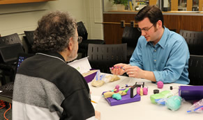 Participants build Squishy Circuits with clay