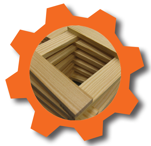 Building planks in orange cog