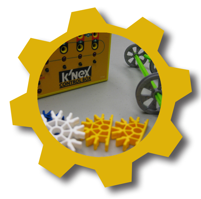 KNex in yellow cog